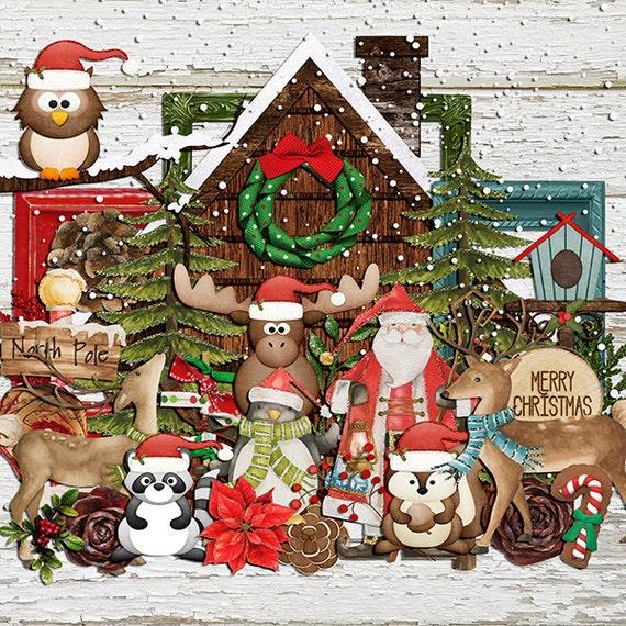 Christmas Woodland Elements