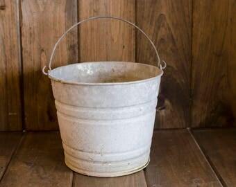 Vintage/Antique Galvanized Bucket Home decor