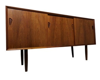 Danish Mid Century Modern Credenza or Media console with sliding doors S935