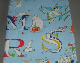 Sanderson Alphabet Zoo Fabric Art Picture