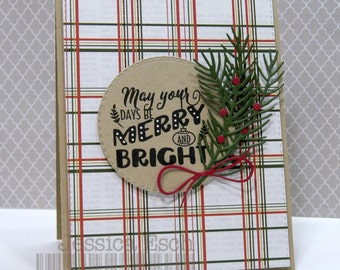 May Your Days Be Merry & Bright~ Christmas Card, Holiday Card, Greeting Card
