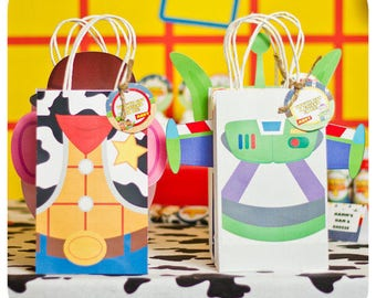 Toy Story; Toy Story Party; Toy Story Birthday Party; Toy Story Birthday; Toy Story Birthday Party; Toy Story Gift Bag Fronts