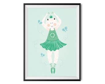 Poster A3 | Frog ballerina