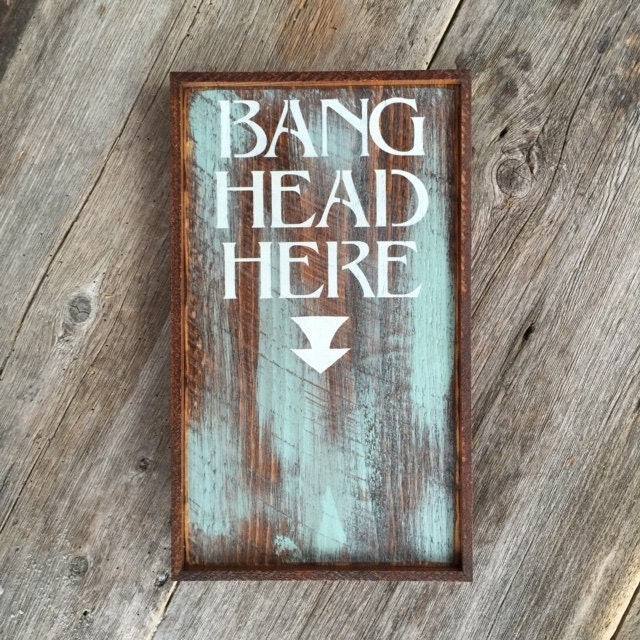 Vintage Wooden Signs Home Decor: Funny Wood Sign Humorous Sign Office Decor Rustic Wall Art