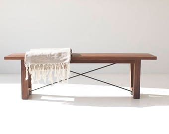 Midcentury Modern Bench, Bench, Modern Bench, Dining Bench, Modern Bench, Dining Room Bench, Walnut Bench
