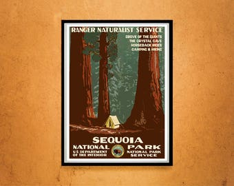 Reprint of a Vintage Travel Poster - Sequoia National Park