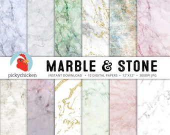 Marble Digital Paper - Gold Marble Digital Paper - stone, granite, pink, green, blue, gray, pastel, purple photography backdrop 8070