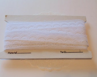 Vintage White Lace 17 Yards NOS White Lace Trim Vintage Sewing Lace White ewing Trim White Trim White Lace Bolt