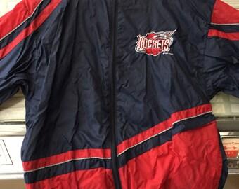 Vintage 90's NBA Rockets shell jacket