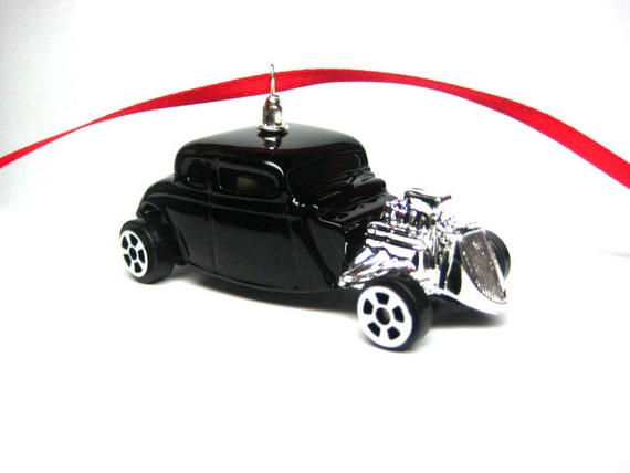 1934 34 Ford Rat Rod Hot Rod Car Christmas Tree Ornament