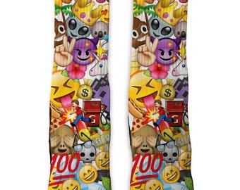 Custom Emoji SS Athletic Socks