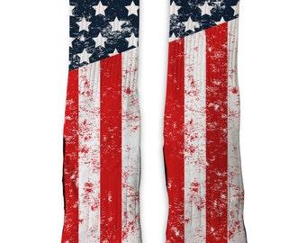 Custom Old Glory Flag SS Athletic Socks