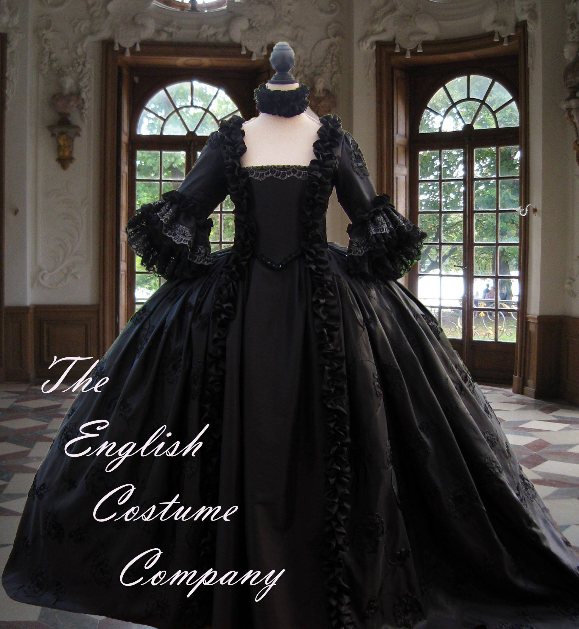 Colonial georgian marie antoinette 18th century gown ideal for 18th century wedding dress
