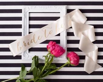 Bride-To-Be Sash, Bachelorette Sash, Custom Sash, Blush Sash, Bride Gift, Art Deco, Vintage Glamour, Flapper, Jazz, Swing 20s Theme