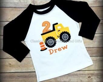 construction birthday shirt,- dump truck shirt,- construction party,- boy birthday shirt,- first birthday,- second birthday,- third l