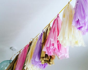 Ready made tassel garlands wedding birthday party baby shower sweet 16th hanging decorations  Pick your own colours