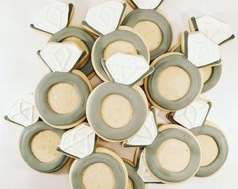 Engagement Sugar Cookies... Wedding Sugar Cookies... Bridal Shower Sugar Cookies...Bachelorette Sugar Cookies