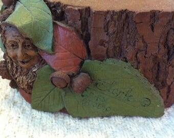 Tom Clark Gnome Riser I, Woodspirit Face, Retired 1994