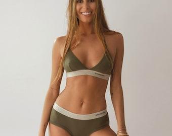 Women's Brief Basic Army Green