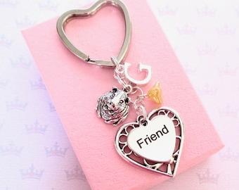 Guinea Pig keyring - Personalised friend keychain - Guinea Pig keychain - Cavie gift for friend - Stocking stuffer - Friend Gift - UK