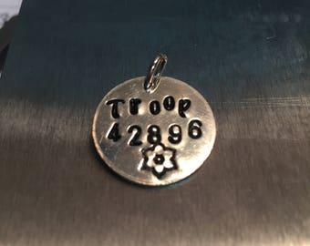 Custom stamped tag