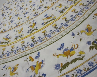 Country French Tablecloth Cottage Tablecloth Farmhouse Tablecloth Round