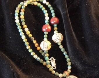 Artisan Tribal Inspired Beaded Necklace