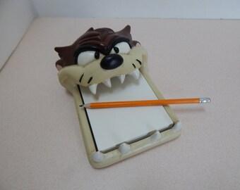 Tasmanian devil cartoon note paper dispenser