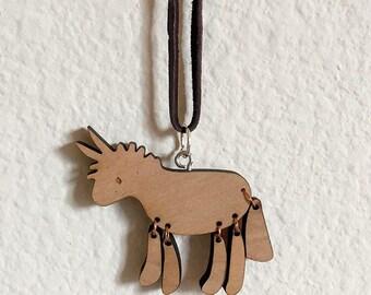 Donkey Wooden Necklace