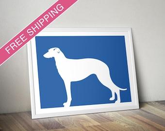 Scottish Deerhound Print - Scottish Deerhound Silhouette - dog home decor, dog wall art, dog gift