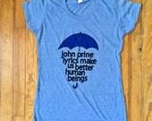 JOHN PRINE SHIRT / blue u...