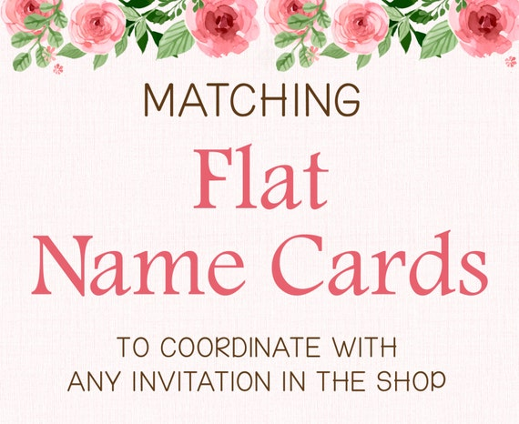 add on flat name cards table numbers or food cards flat card non folded printable by