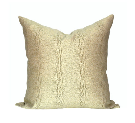 Glossy Slither Gold Designer Pillow Cover - Made to Order - Choose Your Size