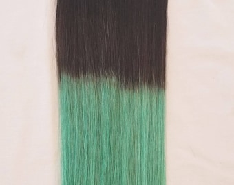 18 inches 100grs,40pcs,OMBRE 100% Human Tape In Hair Extensions #T1B/Mermaid