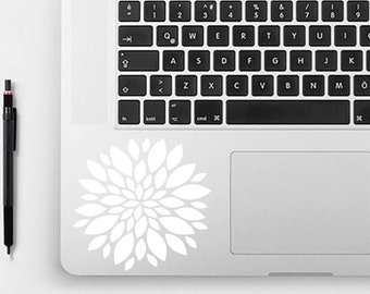 Zinnia Laptop Decal, Flower Car Decal, Vinyl Car Decal, Flower Decal
