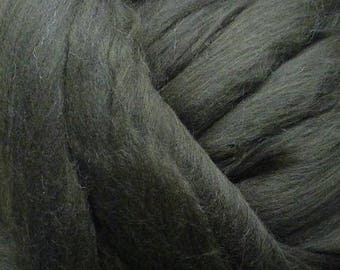 Dyed Merino - Forest- Solid color commercial dyed - combed top roving spinning felting fiber fibre arts  - dark green