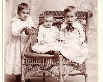 Victorian Cabinet Card Photograph ~ siblings