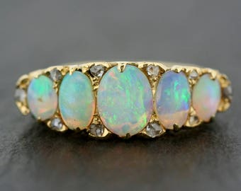 Antique Opal Ring - Victorian Opal Ring - Antique Opal Statement Ring