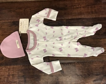 Newborn Footie Pajamas, Preemie Pajamas, Bringing Home Baby, Newborn Baby clothes, Preemie Baby clothes, Footie Pajamas, Coming Home Outfit