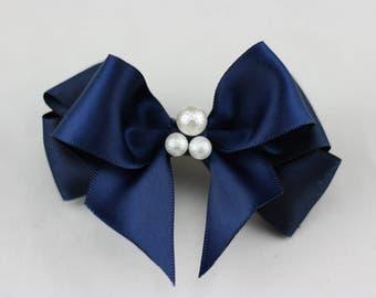 1 pcs/lot 3 inch (80mm), Satin Bows, Wedding bows, boutique hair bows,hair clips,girls hair bows, adults hair bow