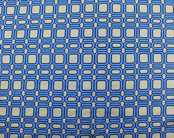 "AKOSOMBO TEXTILES Limited African Cotton Fancy Print Geometric Kanga Skirt Fabric  44"" x 55"""