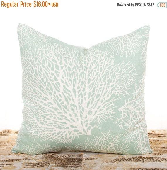 Throw Pillow Seafoam Green : SALE ENDS SOON Seafoam Green Throw Pillows Large by LilyPillow
