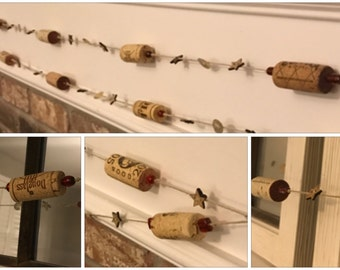 Wine cork garland