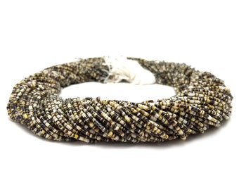 Black Lip Shell Heishi Beads (1.5 mm, 24 Inches Strand)