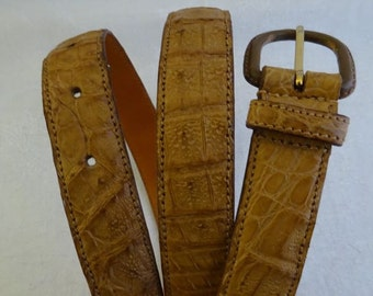 Crocodile Belt, Wilkes Bashford, Made in Italy, Aligator, Leather