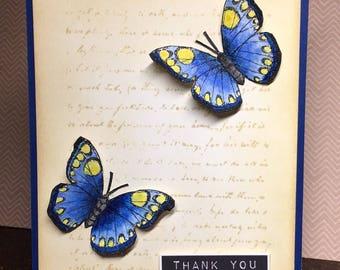 Thank you card , thank you handmade card