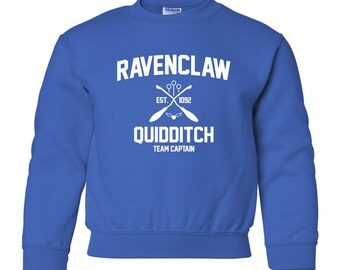 Harry Potter Sweatshirt Ravenclaw Sweatshirt Harry Potter Ravenclaw Quidditch Hogwarts Sweater Sweatshirt Crewneck Unisex Youth Kids