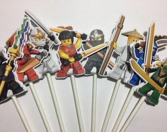 x12 Ninjago Characters Inspired Cupcake Toppers