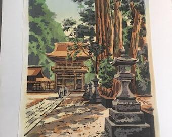 Original Japanese Woodblock on Silk