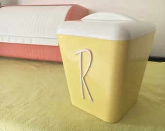 1960s Gay Ware Yellow Rice Cannister